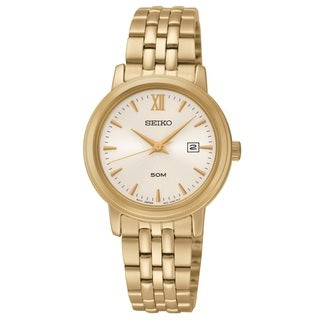 Seiko Women's SUR814 Stainless Steel Gold Tone Watch