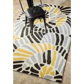nuLOOM Handmade Modern Abstract Indoor/ Outdoor Grey Rug (7'6 x 9'6)