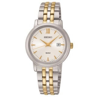Seiko Women's SUR815 Stainless Steel Two Tone Bracelet Watch