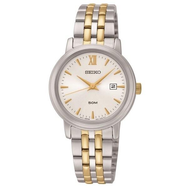 Seiko Women's SUR815 Stainless Steel Two Tone Bracelet Watch