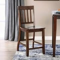 Furniture of America Ralphie Dark Oak Counter Height Dining Chair (Set of 2)