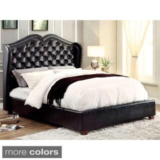 Furniture of America Roselie Tufted Leatherette Platform Bed