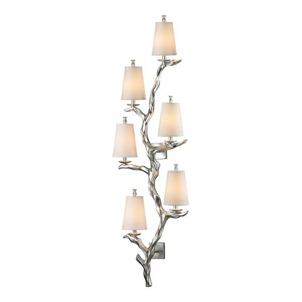 Silver Leaf Sprig Collection 6-Light sconce