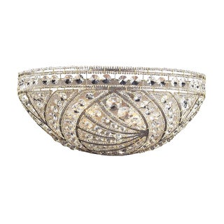 Sunset Silver and Crystal Accents Renaissance Collection 2 -Light Wall Bracket