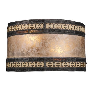 Tiffany Bronze Mica Filigree Collection 2-Light Sconce