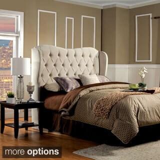 Furniture of America Agatha Tufted Wingback Full-to-Queen Headboard