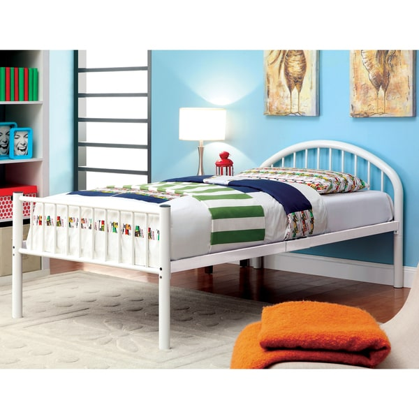 Furniture of America Linden Single Arch Metal Twin Bed