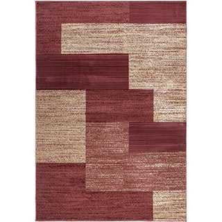 Regal Contemporary Abstract Design Area Rug (7'10 x 10'6)