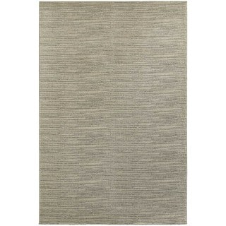 Distressed Beige/ Ivory Stripe Area Rug (6'7 x 9'6)