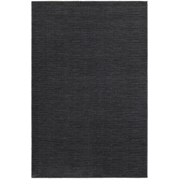 Distressed Navy/ Grey Stripe Area Rug (5'3 x 7'6)