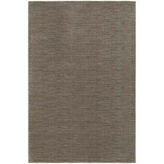Distressed Grey/ Brown Stripe Area Rug (6'7 x 9'6)