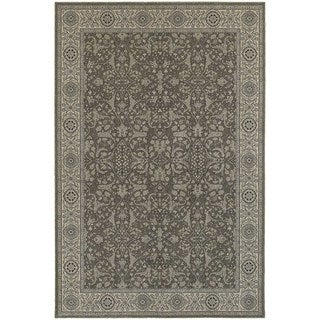 Updated Persian Grey/ Ivory Rug (6'7 x 9'6)