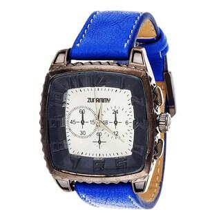 Xtreme Zunammy Men's Gunmetal/ Blue Leather Watch