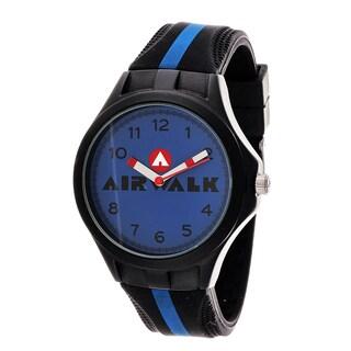Airwalk Analog Blue Dial Black and Blue Watch
