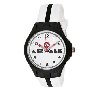 Airwalk Analog White Dial White and Black Watch