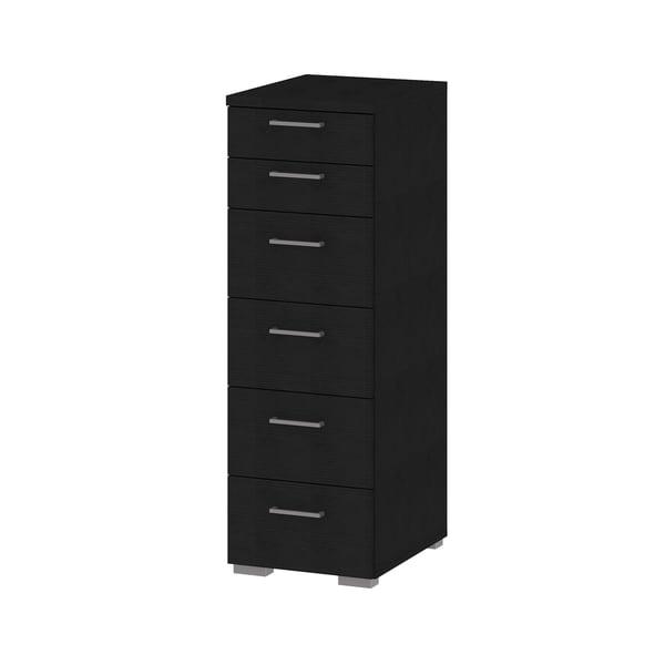 Aria Narrow 6-drawer Oak Chest