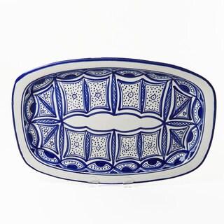 Le Souk Ceramique Qamara Design Rectangular Platter (Tunisia)