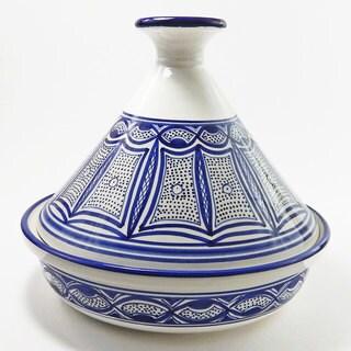 Le Souk Ceramique Qamara Design Serving Tagine (Tunisia)