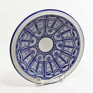 Le Souk Ceramique Qamara Design Medium Serving Bowl (Tunisia)