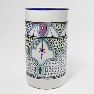 Le Souk Ceramique Malika Design Utensil/ Wine Holder (Tunisia)