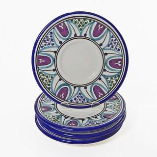 Le Souk Ceramique Set of 4 Malika Design Saucers (Tunisia)