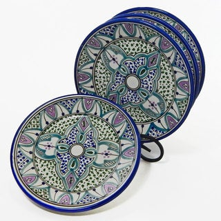 Le Souk Ceramique Set of 4 Malika Design Side Plates (Tunisia)