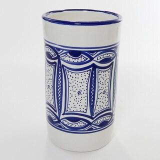 Le Souk Ceramique Qamara Design Utensil/ Wine Holder (Tunisia)