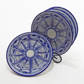 Le Souk Ceramique Set of 4 Qamara Design Side Plates (Tunisia)