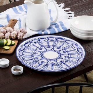 Le Souk Ceramique Qamara Design Round Platter (Tunisia)