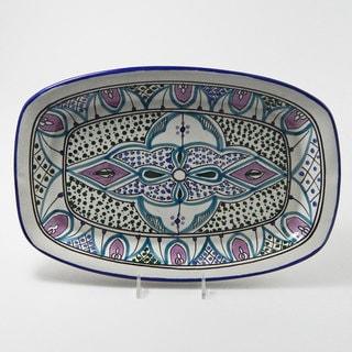 Le Souk Ceramique Malika Design Rectangular Platter (Tunisia)