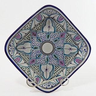 Le Souk Ceramique Malika Design Square Serving Bowl (Tunisia)