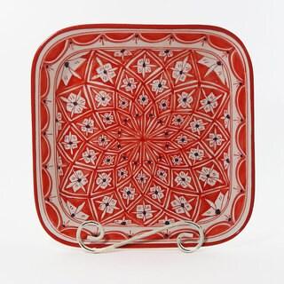 Le Souk Ceramique Nejma Design Square Serving Bowl (Tunisia)