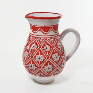 Le Souk Ceramique Nejma Design Large Pitcher (Tunisia)