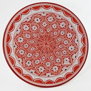 Le Souk Ceramique Nejma Design Round Platter (Tunisia)