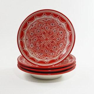 Le Souk Ceramique Set of 4 Nejma Design Pasta/ Salad Bowls (Tunisia)