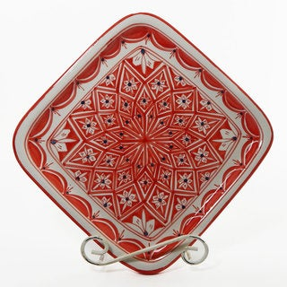 Le Souk Ceramique Nejma Design Square Platter (Tunisia)