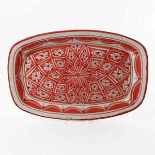 Le Souk Ceramique Nejma Design Rectangular Platter (Tunisia)