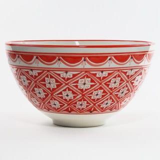 Le Souk Ceramique Nejma Design Deep Salad Bowl (Tunisia)