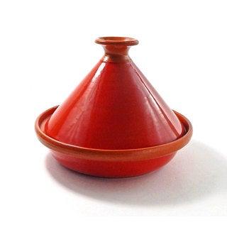 Le Souk Ceramique 9-inch Red Tomato Cookable Tagine (Tunisia)