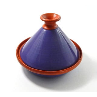 Le Souk Ceramique 9-inch Purple Cookable Tagine (Tunisia)
