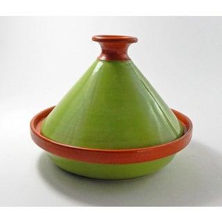 Le Souk Ceramique 9-inch Pistachio Green Cookable Tagine (Tunisia)