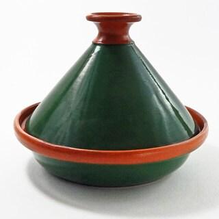Le Souk Ceramique 9-inch Emerald Green Cookable Tagine (Tunisia)