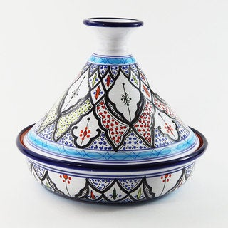 Le Souk Ceramique 12-inch Tibarine Design Cookable Tagine (Tunisia)