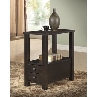 Cappuccino Finish 2-drawer Accent/ End Table