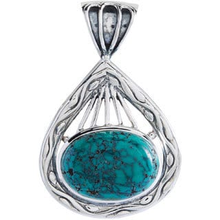 Kele & Co's Exquisite Sterling Silver Turquoise Pendant