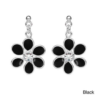 Six Petal Floral Beauty Cubic Zirconia .925 Silver Earrings (Thailand)