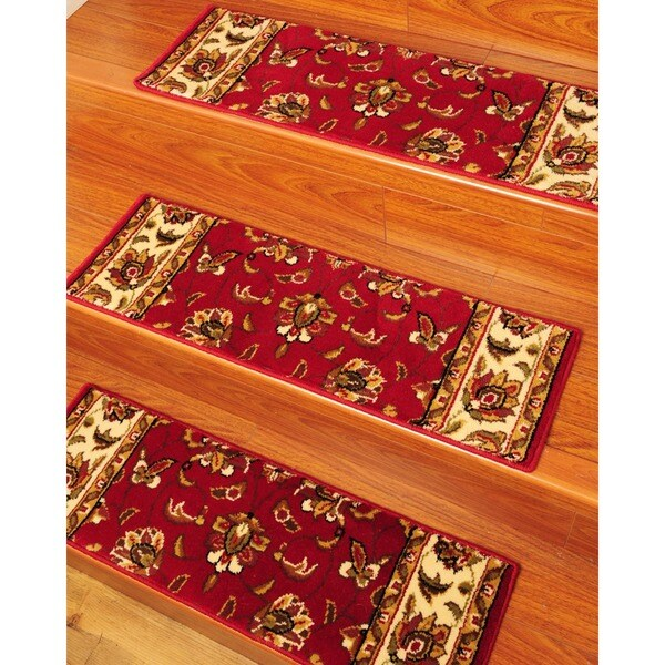 Handcrafted stellar carpet stair treads 9 x 29 set of for Jardin stair treads