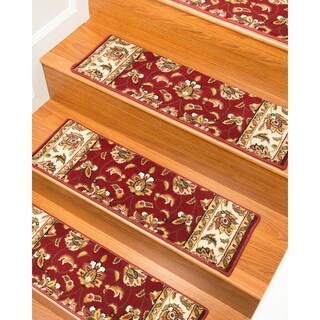 Natural Area Rugs Handcrafted Stellar Carpet Stair Tread with Landing Mat ('9 x 2'5) (Set of 13)