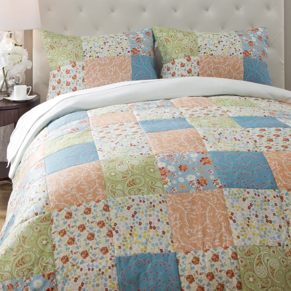 Jovi Home Flower Patchwork 3-piece Duvet Cover Set
