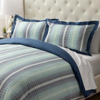 Jovi Home Blue Mosaic 3-piece Duvet Cover Set